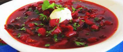 Рецепты борща со свеклой_ с ботвой