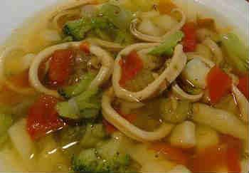 Приготовление кальмаров_суп