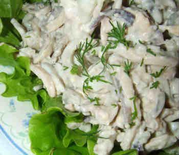 Приготовление кальмаров_вкусный салат