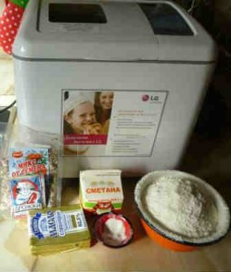 Рецепт пшеничного хлеба в хлебопечке_продукты