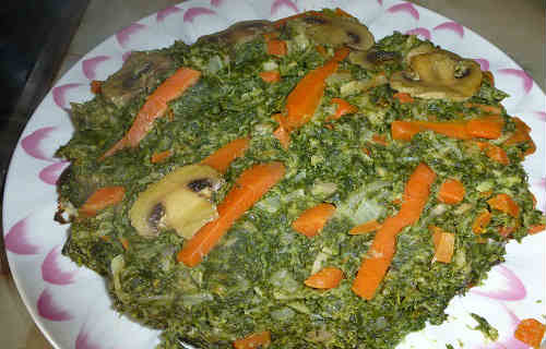 Запеканка со шпинатом_готовое блюдо