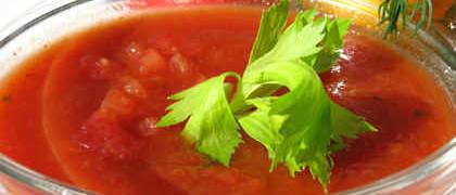 Холодный суп из помидор_рецепт