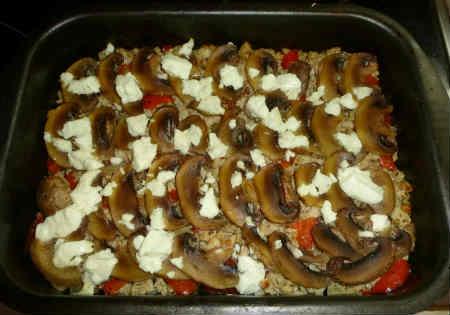 Запеканка с шампиньонами_готовое блюдо