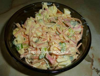 Салат крабовый с корейской морковью_готовое блюдо