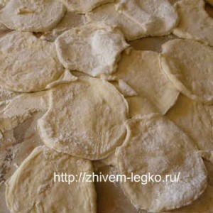Печеные пирожки рецепт с фото_ нарезать тесто на кружочки
