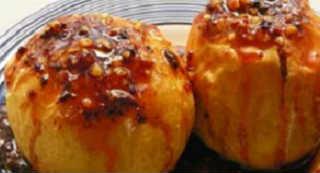 Яблочные десерты. Рецепты фаршированных яблок_с грецким орехом