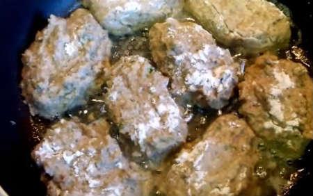 Рецепт гречневых котлет с грибами_начинка