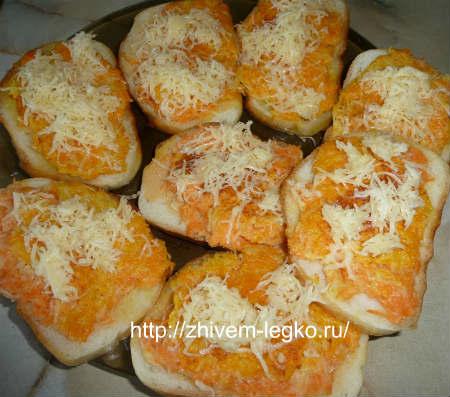 Горячие бутерброды на скорую руку_ поместить в духовку