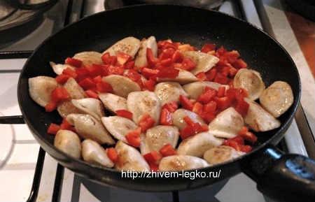 Пельмени в духовке_добавить болгарский перец