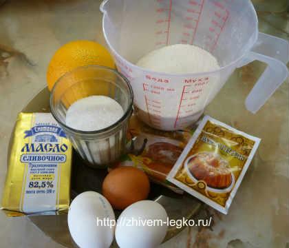 Апельсиновые маффины_рецепт