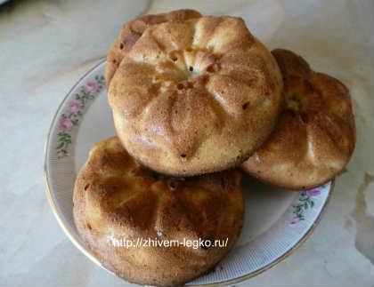 Кексы с яблоками и корицей_рецепт с фото
