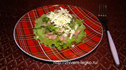 Салат из слабосоленой семги_положить сухарики заранее