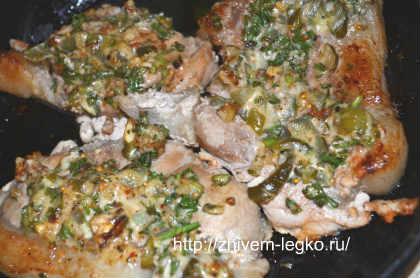 Свинина по-барски_ поместить мясо в духовку