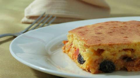 Французский деревенский пирог с черносливом_рецепт