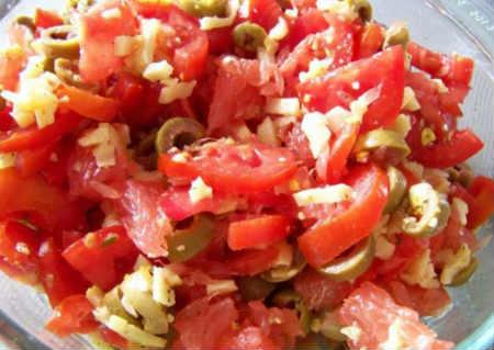 Греческий салат рецепт с фета_приготовление