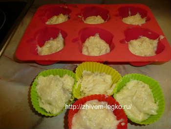 Кексы-рецепт самый простой, в формочках_тесто выложить в формочки