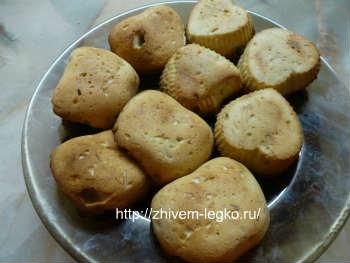 Кексы-рецепт самый простой, в формочках_ готовые кексы