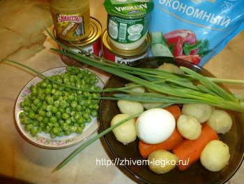 Салат с кальмарами- самый вкусный и простой_ продукты