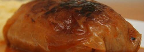 Постные глубцы-рецепт с фото_на тарелке