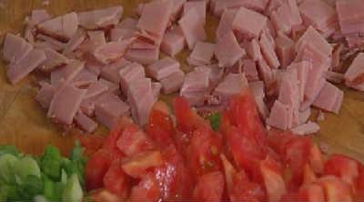 Пирог киш-рецепт с фото_нарезать начинку