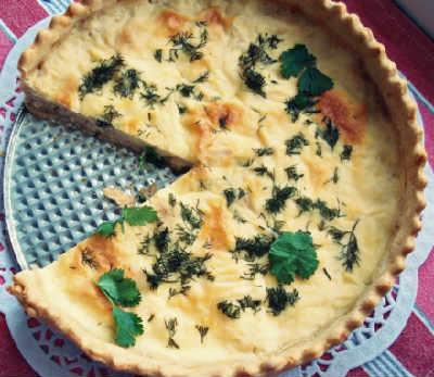 Пирог киш-рецепт с фото_запекаем в духовке