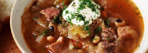 Суп из фасоли-рецепты просто и вкусно_ суп в тарелке