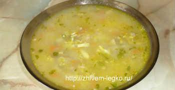 Суп из шампиньонов с картофелем-рецепт пошаговый_разливаем по тарелкам