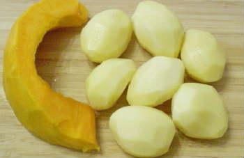 Оладьи из тыквы рецепт с фото пошагово_очистить тыкву, картофель