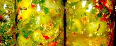 Зеленые квашеные помидоры_рецепт