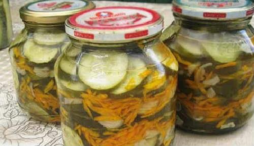 Салаты из огурцов на зиму самые вкусные_рецепт с луком