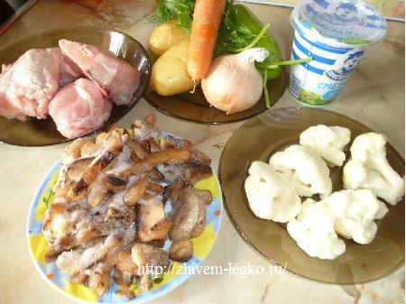 Суп с грибами шампиньонами рецепт с фото_продукты