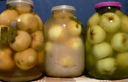 Моченые яблоки рецепт в домашних условиях_в стеклянной банке