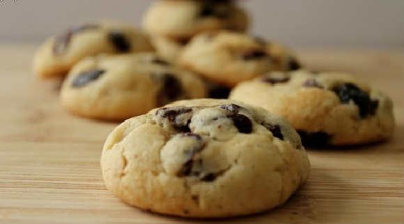 Быстрое печенье в духовке рецепт с фото_ с изюмом