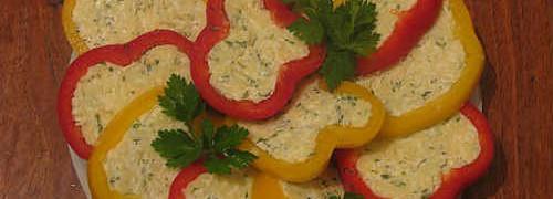 Перец фаршированный сыром холодная закуска_рецепт