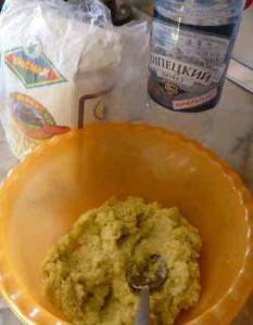Бездрожжевые лепешки_перемолоть овощи