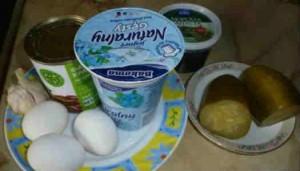 Салат с консервированной красной фасолью_продукты