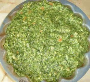 Запеканка со шпинатом_выложить смесь в форму