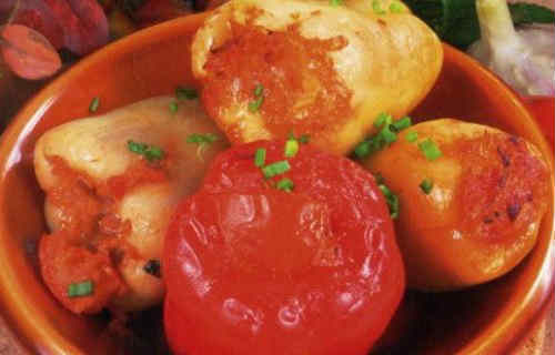 Болгарский перец фаршированный овощами_рецепт