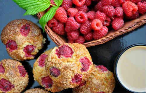Рецепт кекса с малиной_готовое блюдо