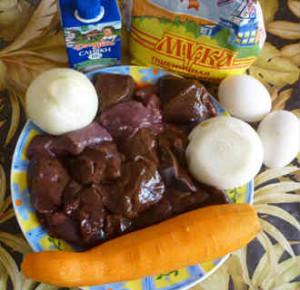 Суфле из говяжьей печени_рецепт