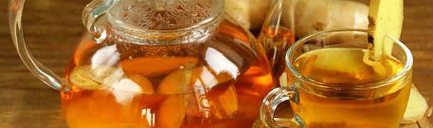 Рецепт имбирного напитка_ в чашке и чайнике