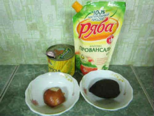 Рецепт легкого праздничного салата_продукты