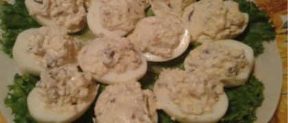 Яйца, фаршированные грибами_закуска