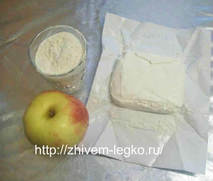 Творожные оладьи с яблоками, без яиц_рецепт