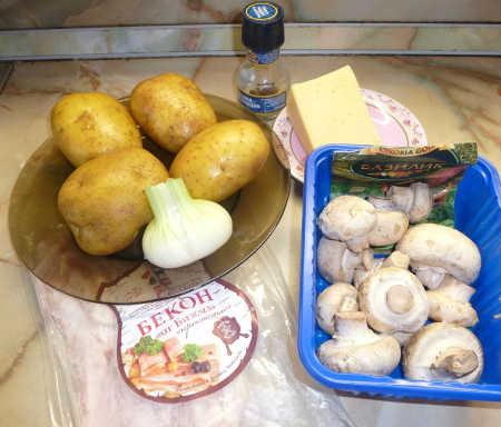 Картофель фаршированный в духовке_рецепт