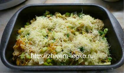 Запеканка из кабачков в духовке_ овощи выложить в форму для запекания