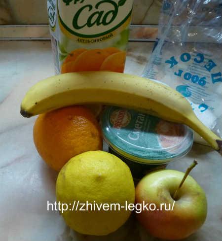 Десерт из фруктов_ рецепт с фото