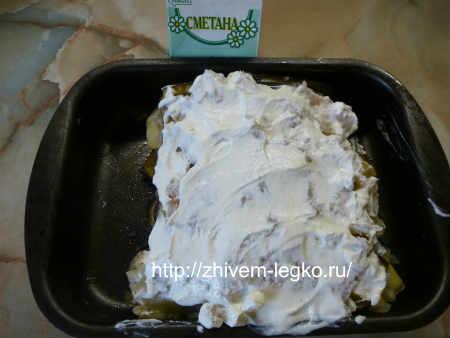 Овощной торт_ обмазываем сметаной