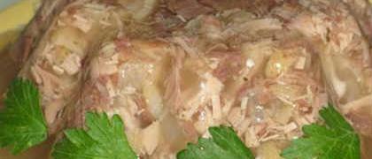 Холодец из индейки_готовое блюдо
