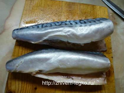 Маринованная скумбрия, рецепт_ тушки рыб очистить